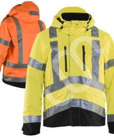 high vis rain jacket