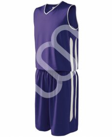 purple basketball uniform