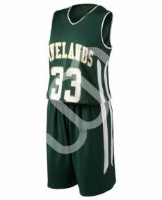 dark green basketball uniform